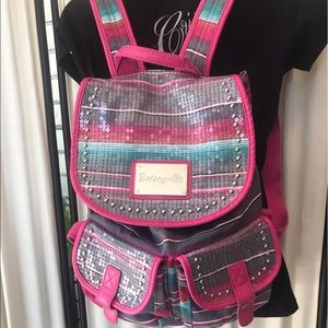 Betsyville Sequined Backpack Note: no drawstring